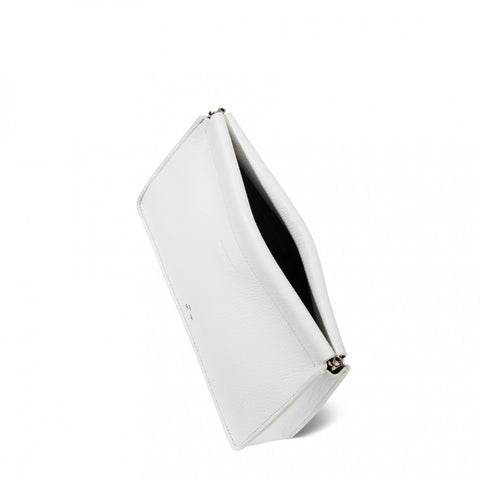 Jerome Dreyfuss White Clic Clac Clutch Pumpz