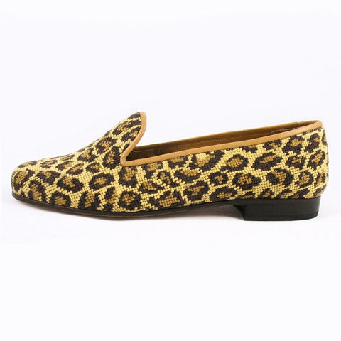 Stubbs & Wootton Needlepoint Loafer in Animal Print