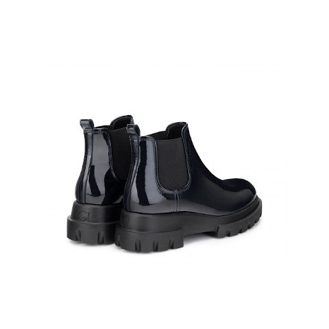 AGL Black patent leather Beatle boot pumpz