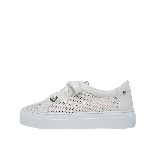 AGL White Perforated Sneaker Pumpz