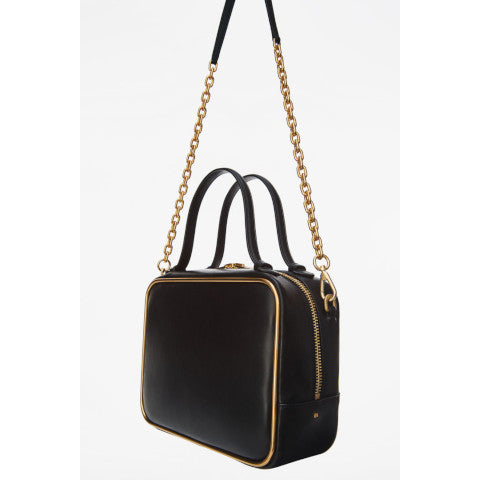 Alexander Wang Halo Black Leather Satchel