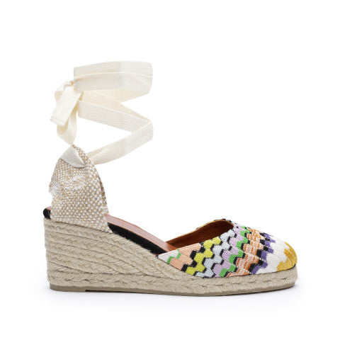 Castañer by Missoni Wave Fabric Wedge Espadrille