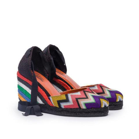 Castañer by Missoni Zigzag Fabric Wedge Espadrille