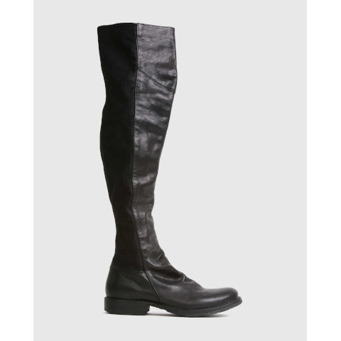Fiorentini + Baker Evita Over The Knee Black Boot Pumpz