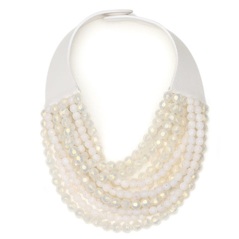 Fairchild Baldwin Aurora Necklace in Pearlized White