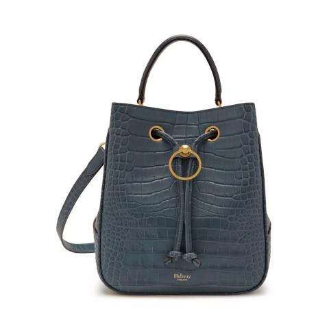 Mulberry Hampstead croc dark slate bag