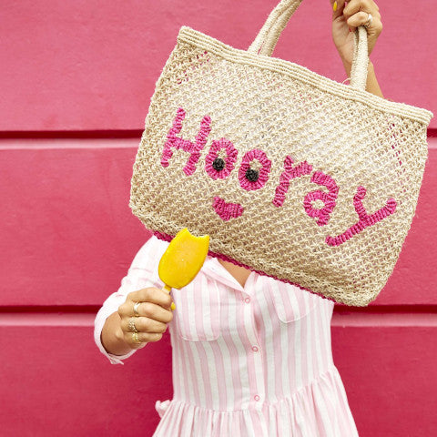 The Jacksons Hooray jute tote Pumpz