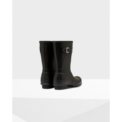 Hunter Short Matte Black Rain Boot