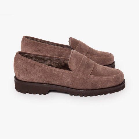 Unutzer Brown Shearling Loafer