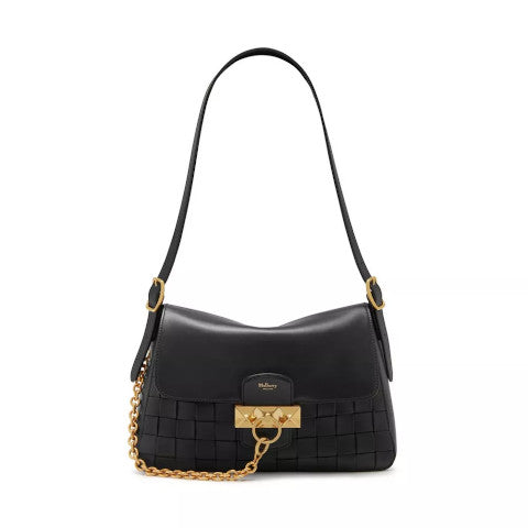 Mulberry Keeley Woven Black leather bag Pumpz