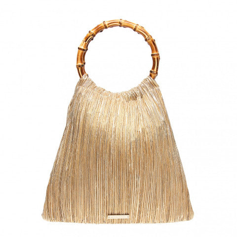 Loeffler Randall Mattie Bamboo Circle Handle Pouch