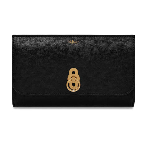 Mulberry Black Amberley Long Wallet