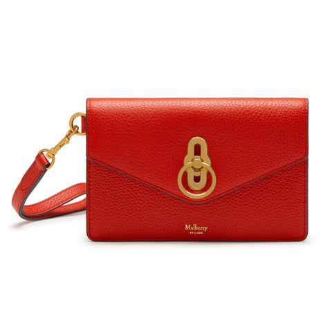 Mulberry Amberley Phone Clutch in Hibiscus Red