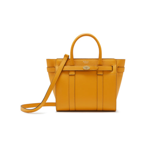 Mulberry Deep Amber Mini Zipped Bayswater Handbag