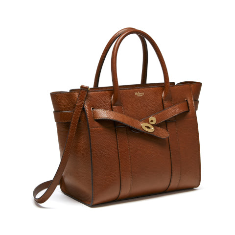 Mulberry Oak Small Zipped Bayswater Handbag