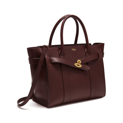 Mulberry Oxblood Small Zipped Bayswater Handbag