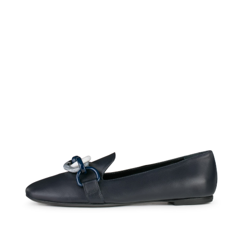 AGL navy loafer with link loafer Pumpz