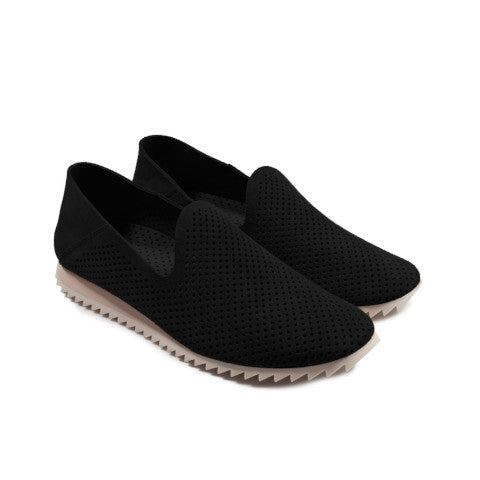 Pedro Garcia Cristiane Black Perforated Flat