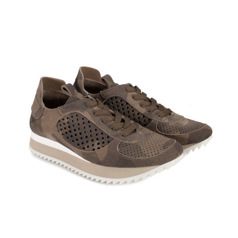 Pedro Garcia Omega Camouflage Suede Sneaker