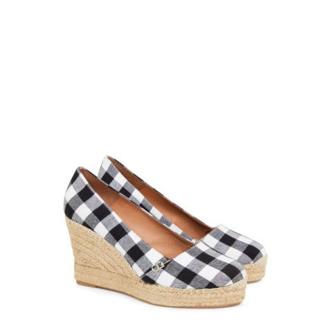 Penelope Chilvers Colina Gingham Wedge Espadrille