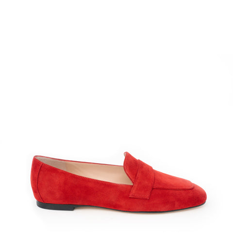 Stuart Weitzman Payson loafer black leather or red suede Pumpz