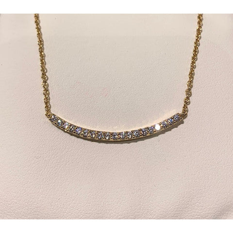 Fantasia Rave gold cz bar necklace Pumpz