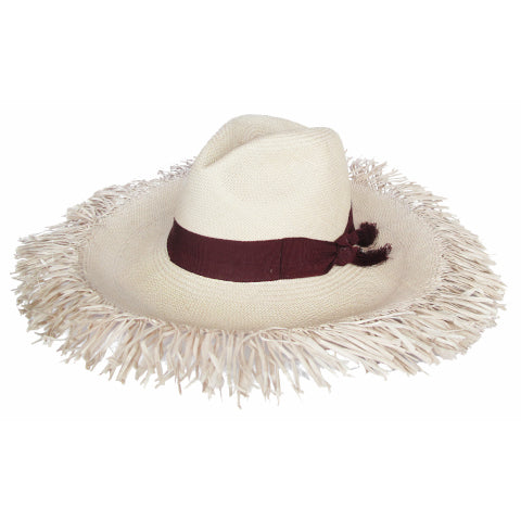 Sensi Studio Extra Frayed Long Brim Hat