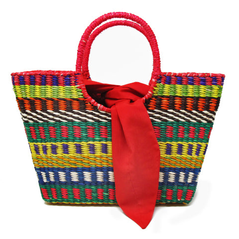 Sensi Studio Multi-Color Straw Handbag