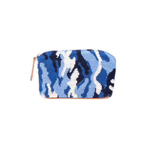 Stubbs & Wootton Needlepoint Pouch in Blue Camo