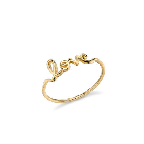 Sydney Evan Small Gold Love Ring