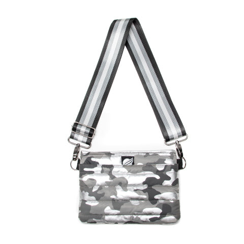 Think Royln Bum Bag Cross Body in Shiny Camo