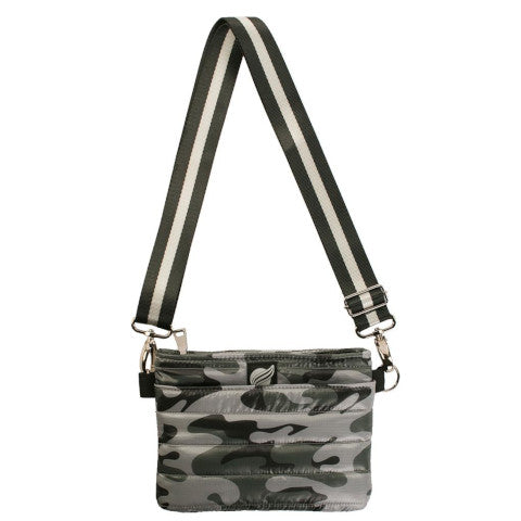 Think Royln Bum Bag Cross Body in Tribeca Grey Camo