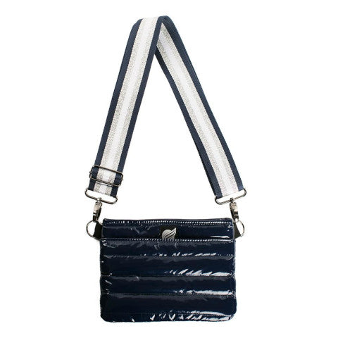 Think Royln Bum Bag Cross Body in Navy Patent