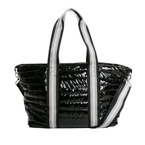 Think Royln Wingman Bag in Black Patent