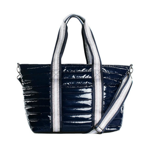 Think Royln Wingman Bag in Navy Patent