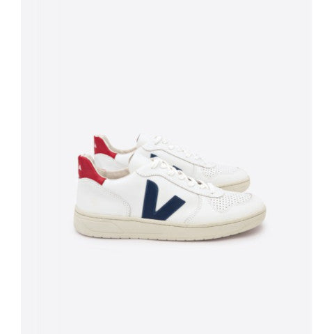 Veja V-10 Extra White, Blue and Red Sneaker