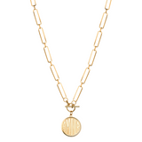 Janis Savitt Necklace with Amour Charm