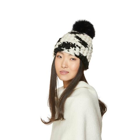 Mischa Lampert Black Cow Beanie