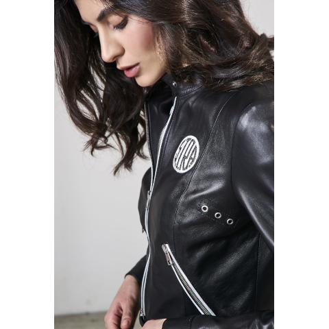 S.T.R.A. Leather motorcycle Jacket Pumpz Black