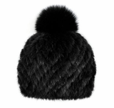Mitchie's Matchings Mink Beanie in Black