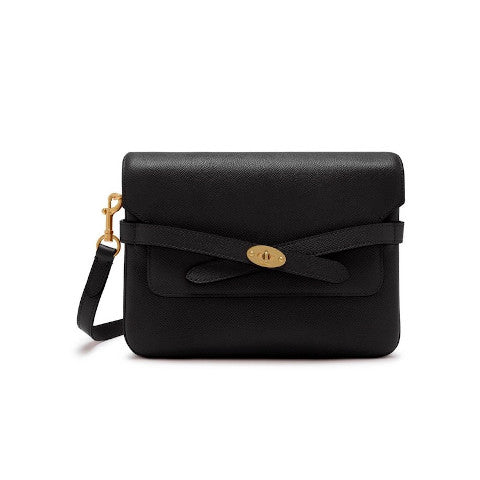 Mulberry Belted Bayswater Satchel Black small printed grain Pumpz