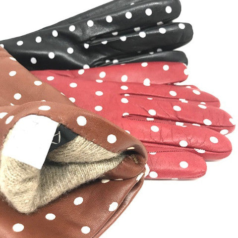 Alpo polka dot gloves cashmere lined Pumpz