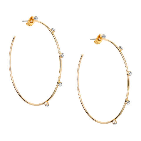 Janis savit gold crystal hoops pumpz