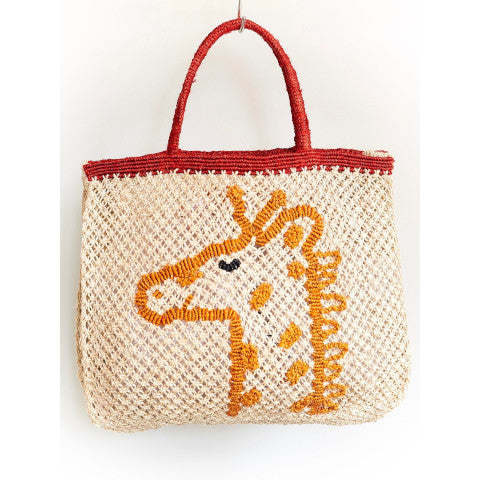 The Jacksons Giraffe Bag jute tote