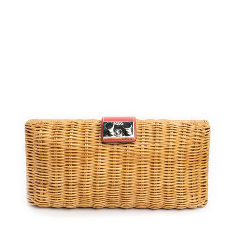 RODO Wicker Clutch Bag