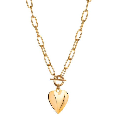 Janis Savitt Gold plated heart necklace Pumpz