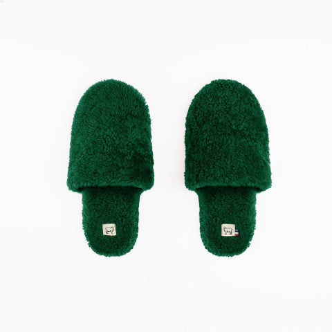Toasties Hotel Slippers Green France Pumpz
