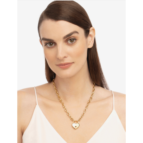 Janis Savitt Gold Chain with Heart