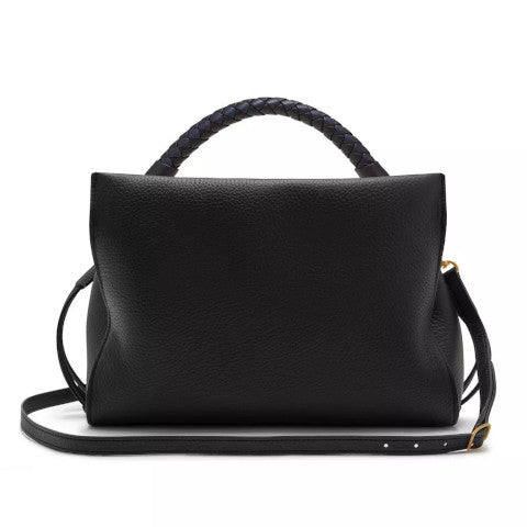 Mulberry Iris Heavy Grain Black