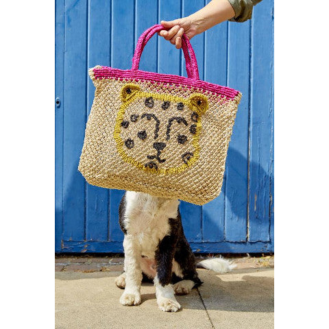The Jacksons Leopard jute bag Pumpz